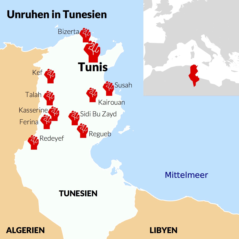 Tunesien Karte.Karte Von Tunesien Mit Selbst Definierten Symbolen
